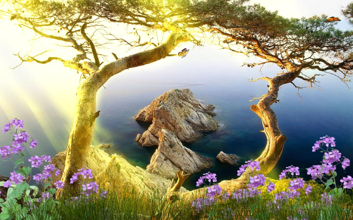 Download Now Beautiful Landscape Animated Wallpaper