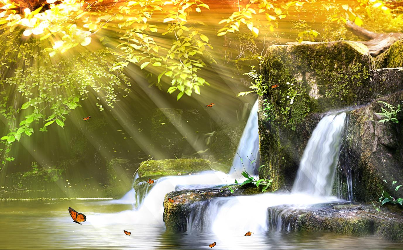 Download Now Charm Waterfall Animated Wallpaper
