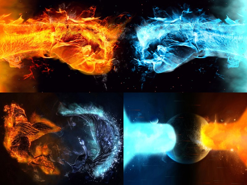 Cold Fire Animated Wallpaper