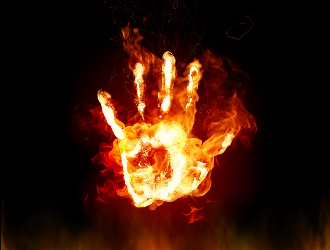 Fire Hands Animated Wallpaper Preview