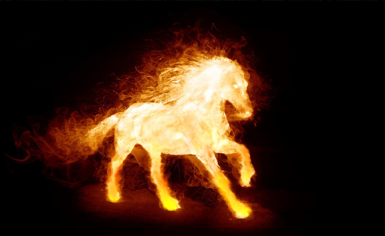 Download Fire Horse Animated Wallpaper