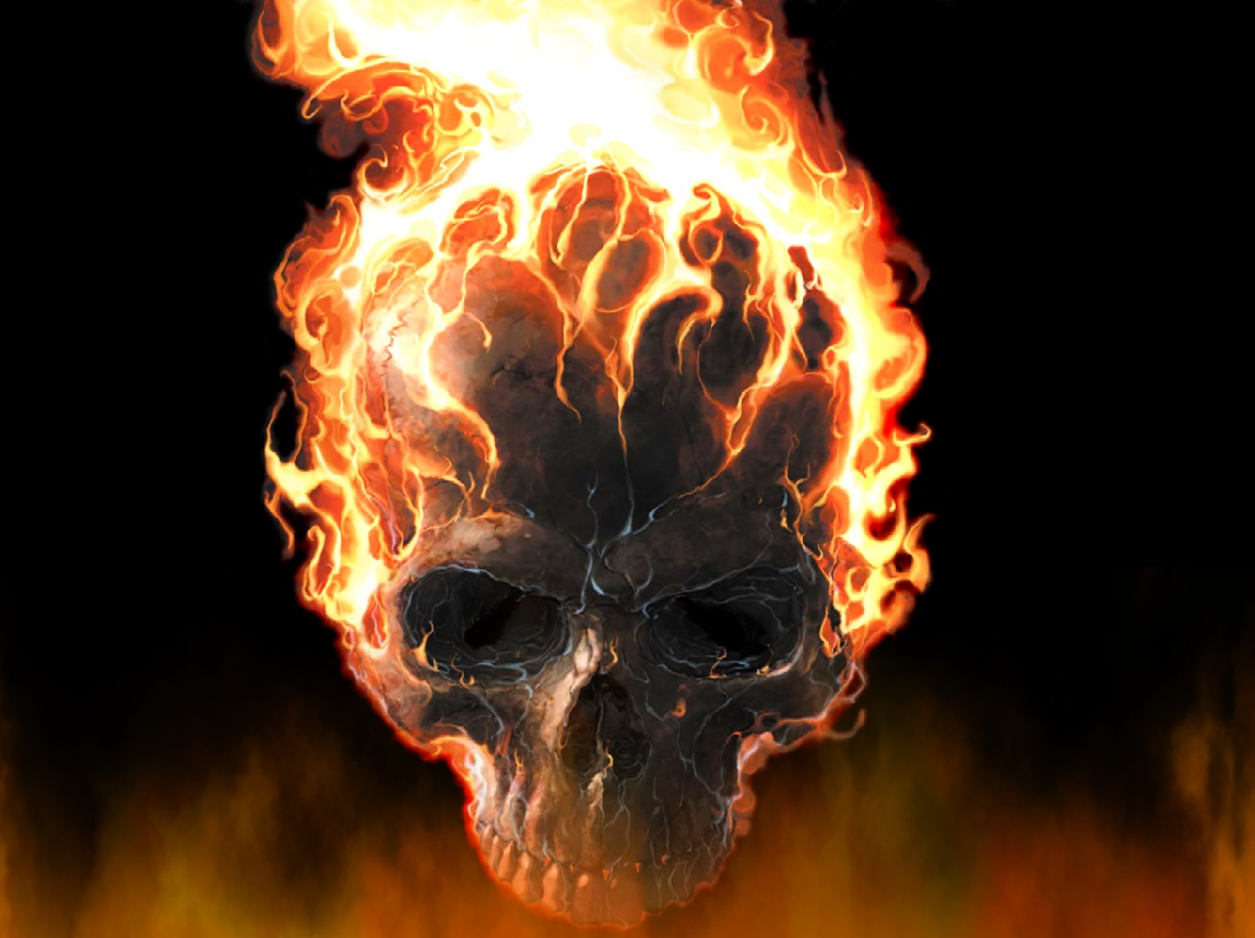 Download Fire Skull Animated Wallpaper  DesktopAnimated.com