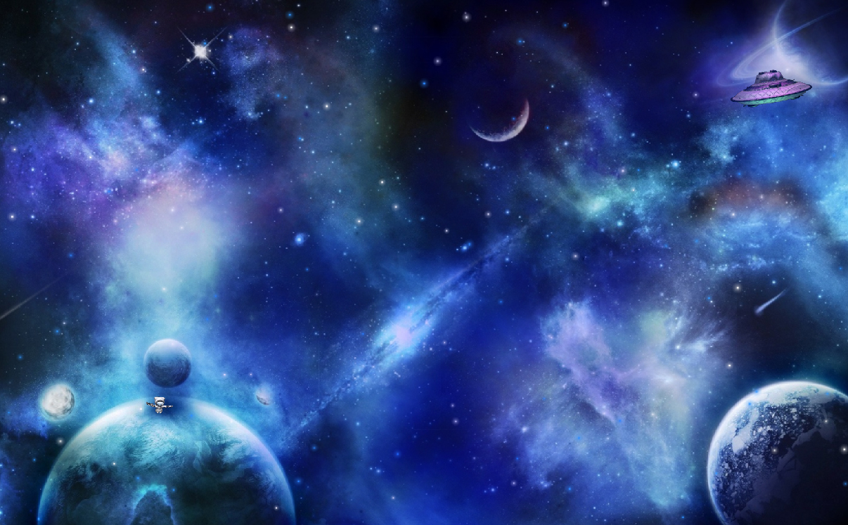 Fantastic space universe screensaver