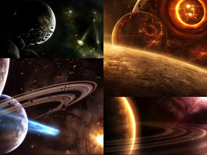 planet universe screensaver animated wallpaper download