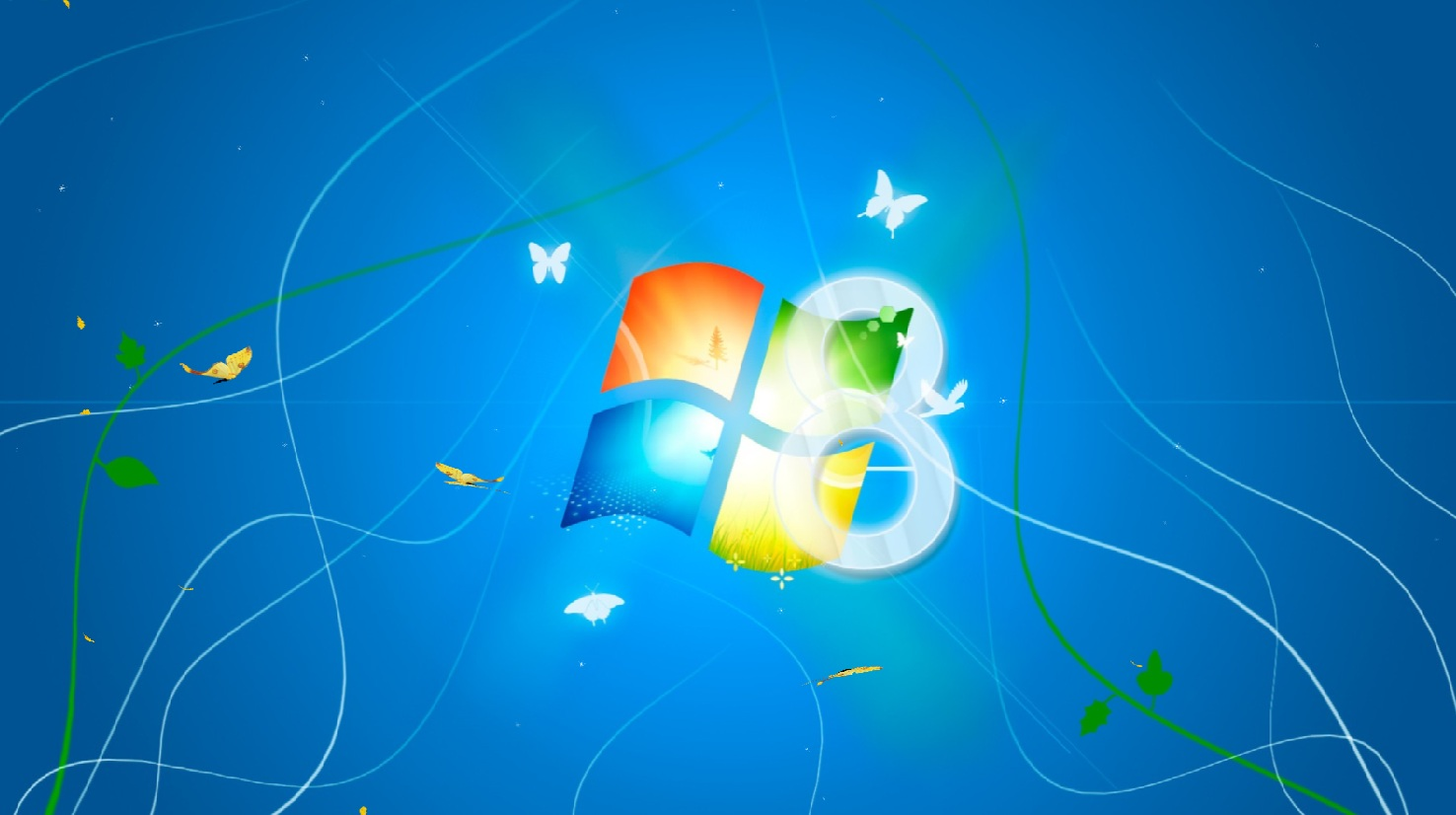 Windows 8 Light Animated Wallpaper full Windows 7 ...