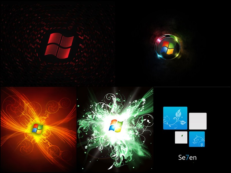 Windows 7 Black Edition Animated Wallpaper