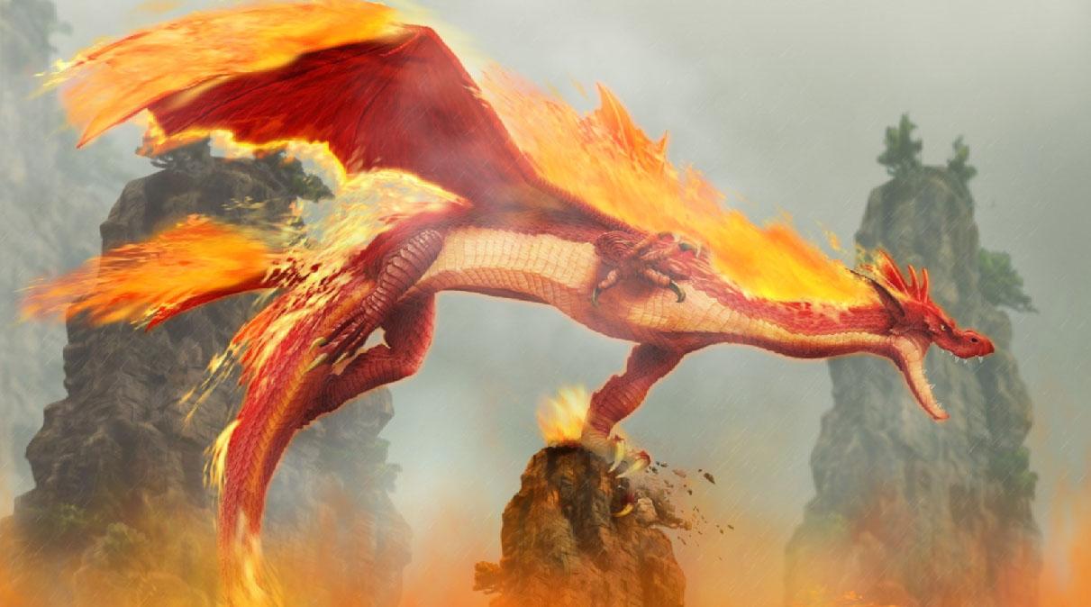 Fire Dragon Animated Wallpaper