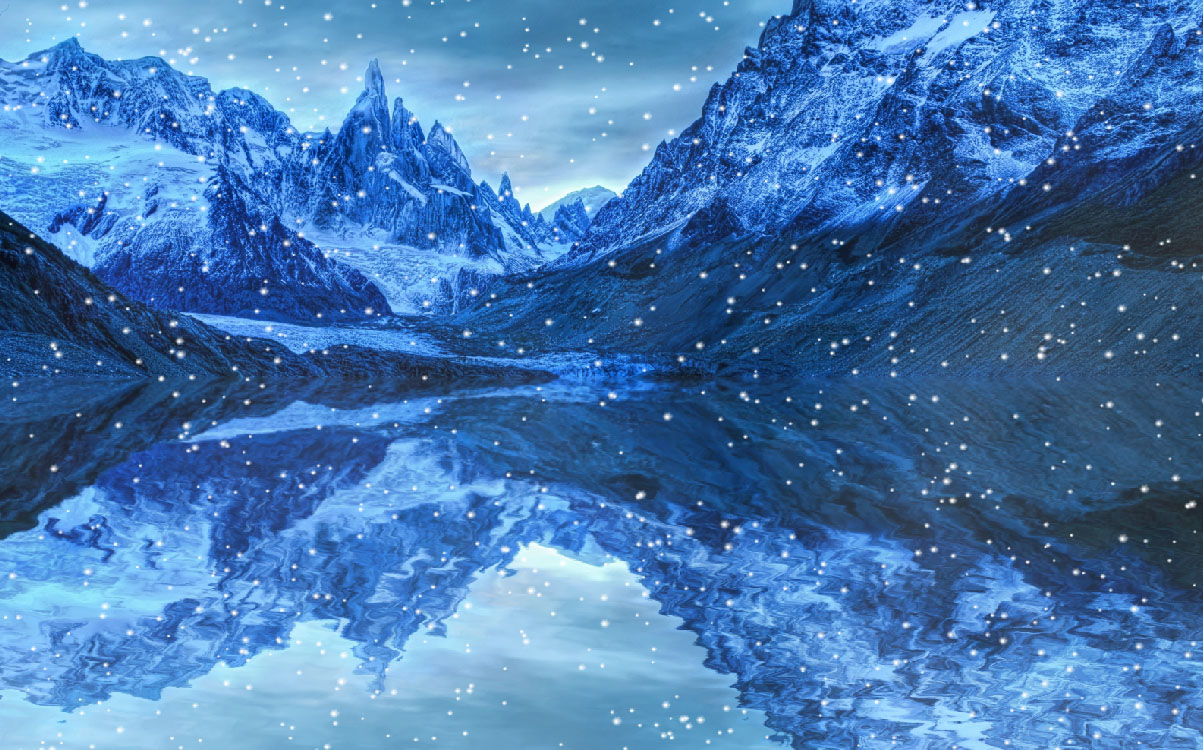 White Mountain Animated Wallpaper Frozen Places