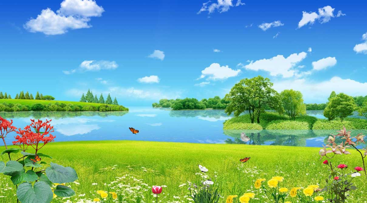 Green Fields Animated Wallpaper