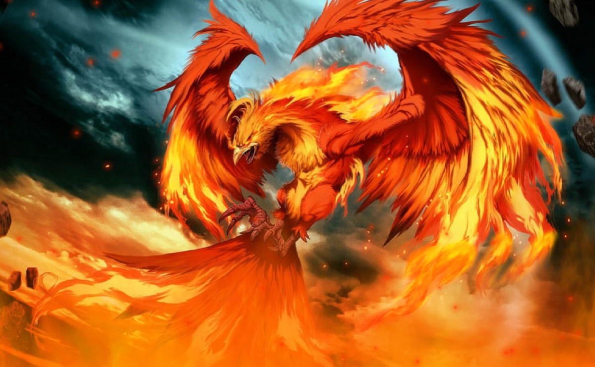 fire phoenix animated wallpaper   desktopanimated