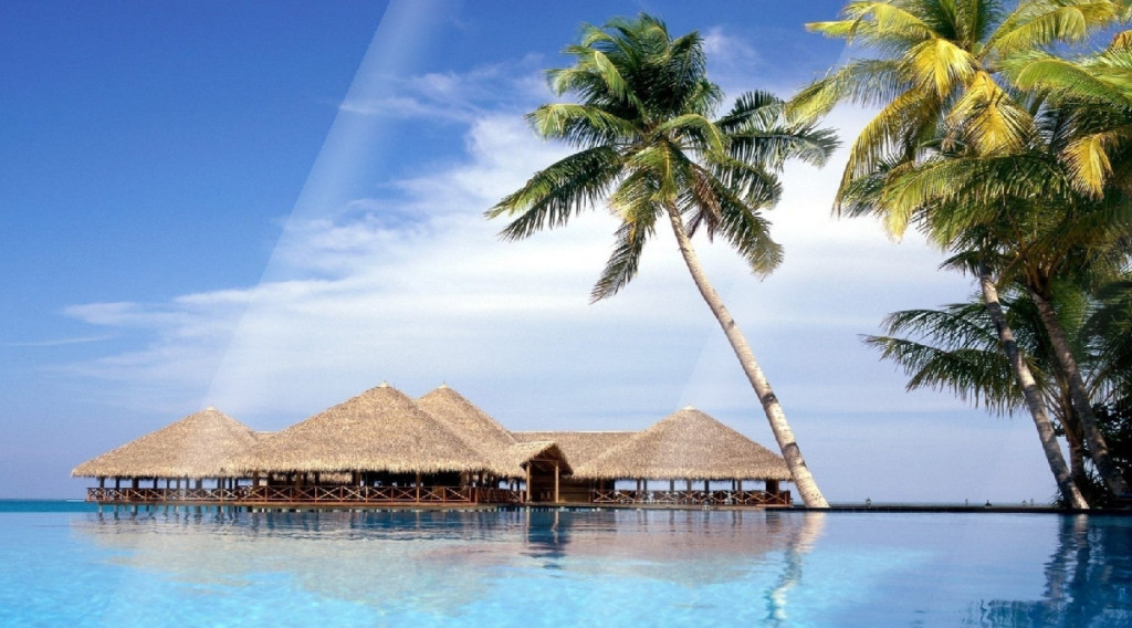 tropical resorts wallpaper background - photo #18
