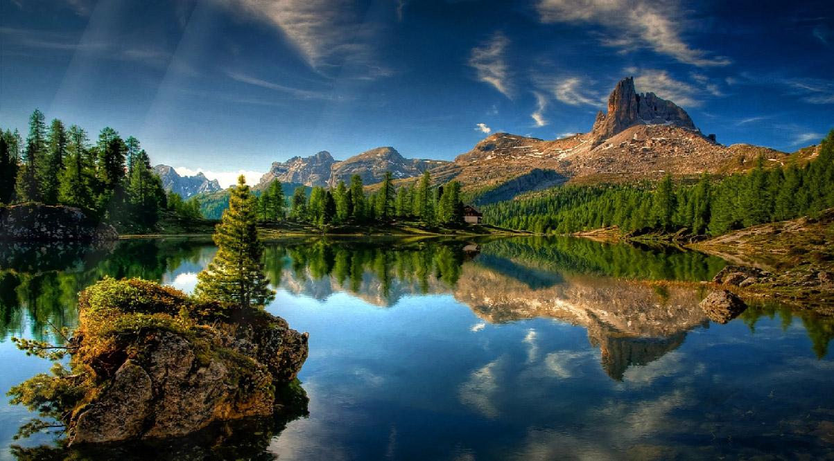 nature fresh animated landscape italy lake desktopanimated prags