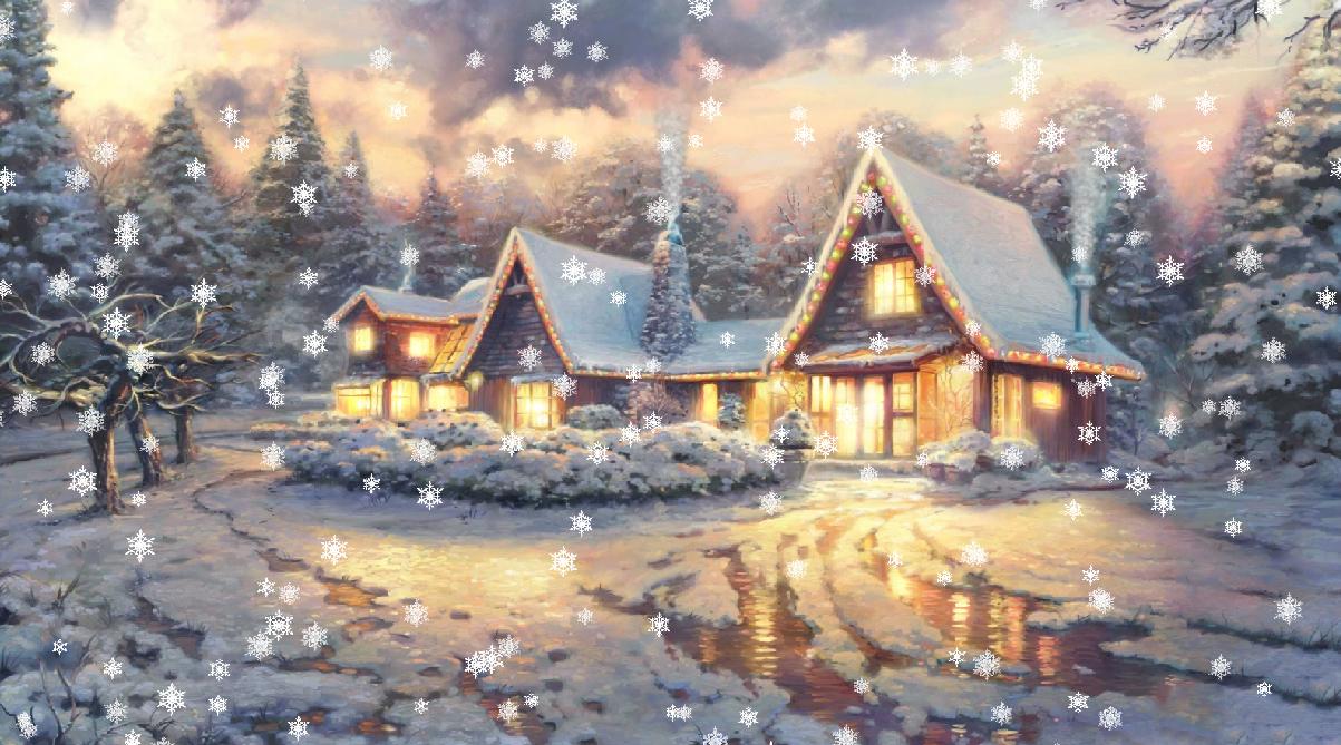 Christmas Eve Animated Wallpaper - DesktopAnimated.com