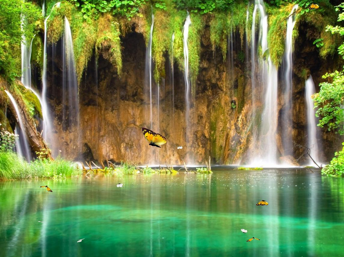 Download Charm Waterfall Animated Wallpaper