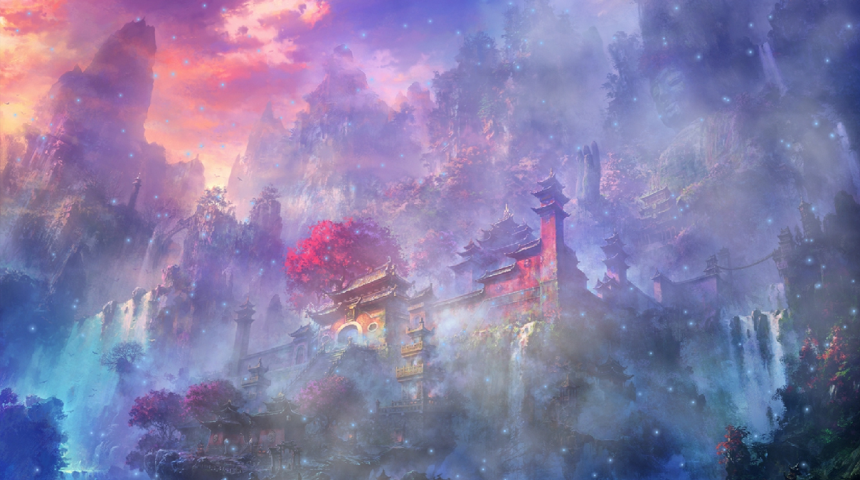 celestial houses animated wallpaper